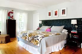bedroom rustic bedroom with white chic bed and rutsic old door