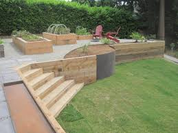 landscape timber retaining wall cost landscape timber retaining