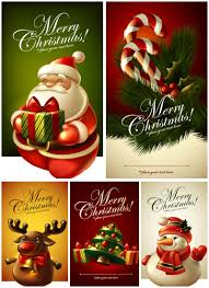 beautiful christmas cards beautiful christmas cards vector set 2 vector graphics