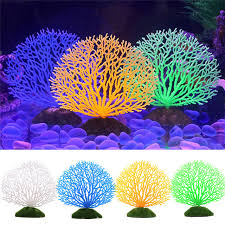 Hot Fish Tank Ornaments 4 Colors Artificial Fake Coral Aquarium