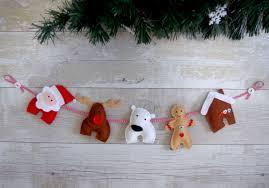 christmas garland sewing kit make your own felt christmas