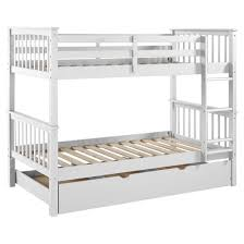 Solid Wood Bunk Bed With Trundle Bed Saracina Home  Target - Wooden bunk bed with trundle