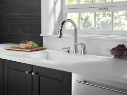 delta kate kitchen faucet 16970 sd dst single handle pull kitchen faucet with soap
