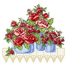 3 roses cross stitch pattern roses