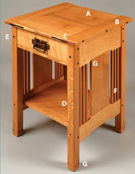 Bed Side Tables by Arts U0026 Crafts Bedside Table Popular Woodworking Magazine