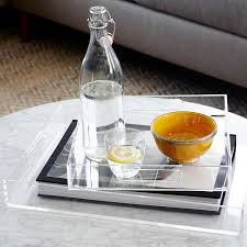 Tray For Coffee Table Acrylic Trays West Elm