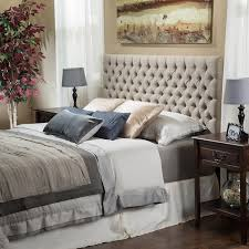 Wall Hung Headboard by Bedroom Tan Fabric Tufted Upholstered Wall Mounted Headboard Bed