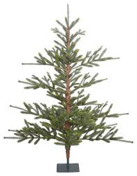 bed rock pine green tree in metal stand