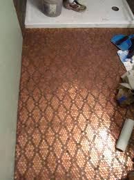 Bathroom Floor Pennies Our Irish Manor Our Penny Floor For The Home Pinterest