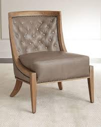 tufted nailhead trim chair neiman marcus