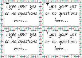yes or no question cards archives k 3 resources