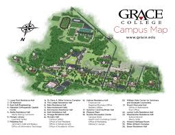 University Of Akron Map Campus Map Grace College U0026 Seminary