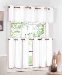 Grommet Top Valances Jackson Kitchen Curtains Red U2013 Lorraine Cafe U0026 Tier Curtains