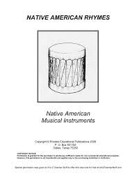 Free Printable Music Worksheets Native American Rhymes Printable Resources A To Z Teacher Stuff