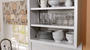 kitchen display ideas how to convert kitchen cabinets to open shelving better homes