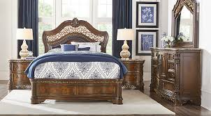 Affordable Queen Bedroom Sets For Sale   Piece Suites - Dark wood queen bedroom sets