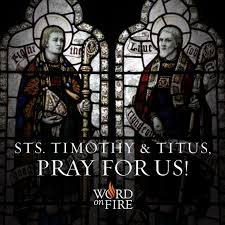 prayergraphics sts timothy and titus pray for us
