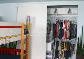 how to organize a closet with sliding doors