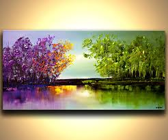 original abstract modern landscape made original contemporary abstract landscape painting by osnatfineart