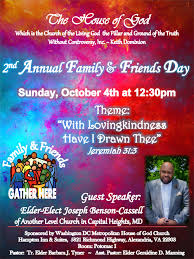family and friends day flyer church ministry ideas