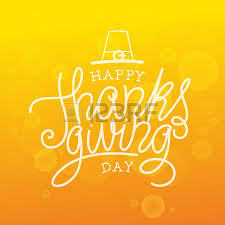 happy thanksgiving day vector illustration lettered text