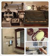 mancel bath hardware sets antique brass towel rack shelf bathroom