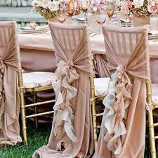 chair bows ruffle chair sash diy and armando s wedding
