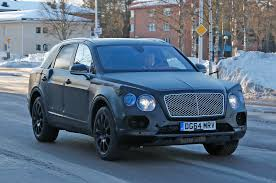 bentley bentayga 2015 spied bentley bentayga caught winter testing in sweden