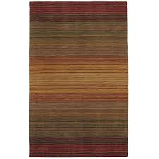 Green Ombre Rug Graduated Striped Russet Rug Stripe Rug Rugs And Stripes