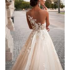 open back wedding dresses noble lace wedding dress open back wedding dress