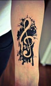 36 best musical tattoos images on pinterest beautiful women