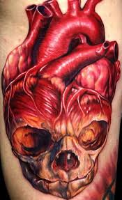 heart skull color tattoo color tattoos best tats