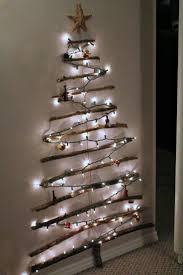 Twig Tree Home Decorating Beautiful Christmas Tree Of Lights On Wall 40 For Home Decorating
