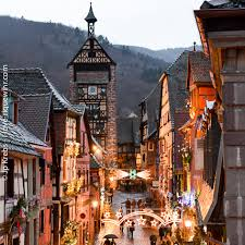 markets 2018 in riquewihr alsace and winter time