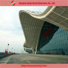 Prefabricated Roof Trusses Large Span Aircraft Hangar Prefabricated Arch Steel Roof Truss