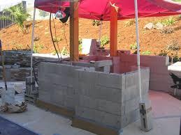 diy outdoor kitchen island outdoor kitchens steel studs or concrete blocks yard ideas
