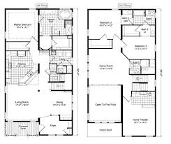 Floor Plan Two Storey House 11 Second Floor Modern 2 Story House With Rectangular Plan For A