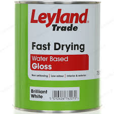 leyland trade fast drying water based gloss paint 750ml brilliant