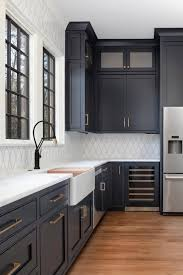 navy blue kitchen cabinet design 75 beautiful blue kitchen cabinets pictures ideas houzz