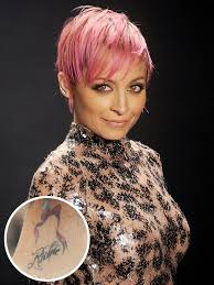 nicole richie u0027i was an idiot u0027 for getting a neck tattoo people com