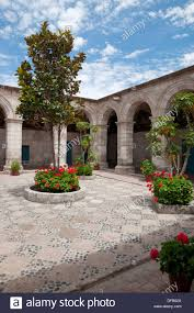 interior courtyards and architecture of the santa catalina