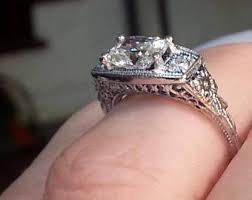nouveau engagement rings vintage nouveau engagement ring etsy