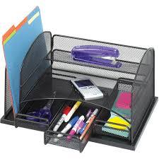 Mesh Desk Organizer Safco 3252bl Onyx Mesh Desktop Organizer Schoolsin