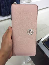 light pink michael kors wallet michael kors blossom silver fulton zip around continental wallet