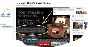 win movie tickets u0026 prizes with the walmart cars 2 facebook app