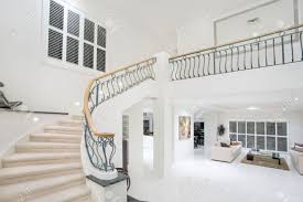 modern mansion entrance hall in luxury modern mansion stock photo picture and