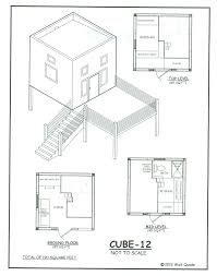 12 cubed tiny house modern cube floor plans cube12smallhomeplans