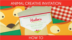 how to make woodland animal creative invitation birthday party
