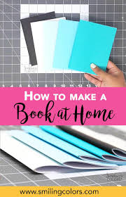 how to make a book at home with video tutorial