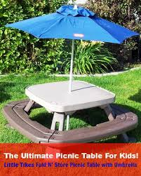 little kids picnic table little tikes picnic table with umbrella review